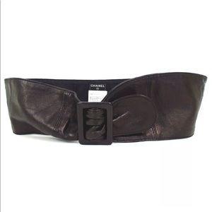 Chanel lambskin vintage belt